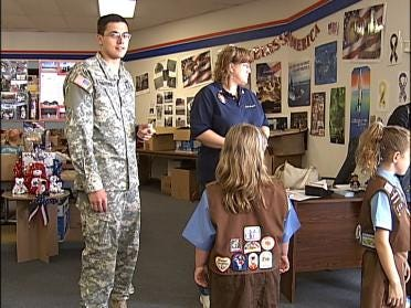 Girl Scout Cookies Being Sent To Troops