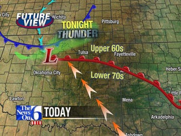 Storms Possible For Eastern Oklahoma