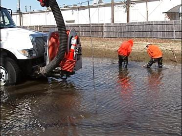 Work Underway To Clear Storm Drains