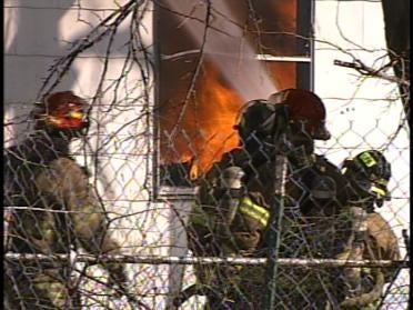 Home Burns Near Downtown