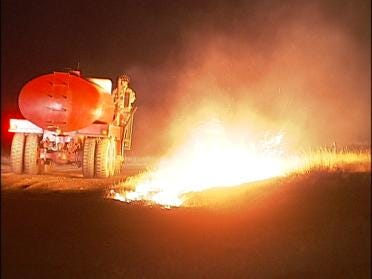 Hundreds Of Green Country Acres Burn