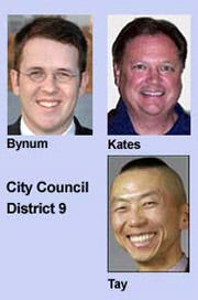 Bynum, Kates And Tay Run For District 9