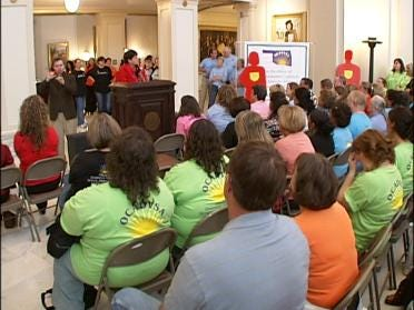 Oklahomans Gather To Fight Domestic Violence