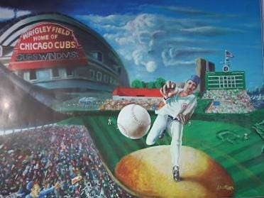 Artist Scores Home Run With Painting