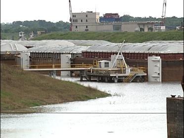 Rainfall Causing Traffic Jam At Port
