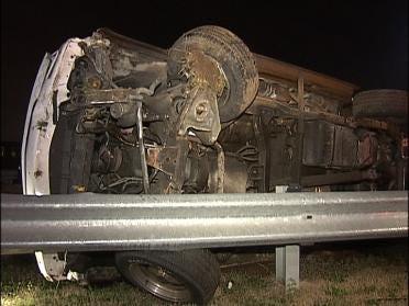 Police Investigate Rollover Accident