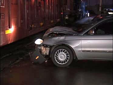 Car Hits Train