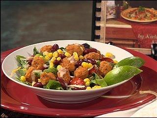 Popcorn Chicken Fiesta Salad