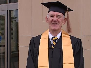 Graduate Walks Across Stage 53 Years Later