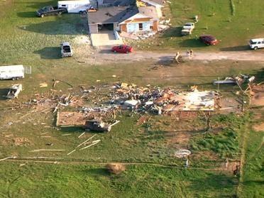 Tornado Leaves Damage In Haywood