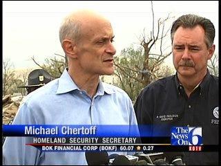 Homeland Security Secretary Chertoff Surveys Damage