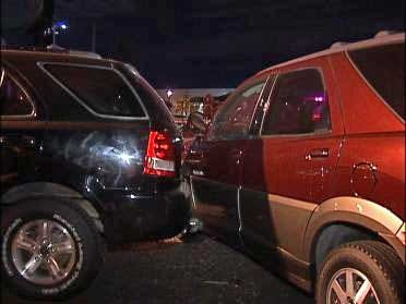 Seven Cars Damaged In Overnight Accident