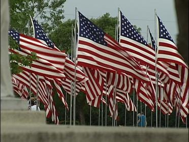 Flags Flying High For Fallen Soldiers