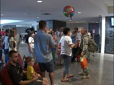 Soldier Returns Home On Special Day