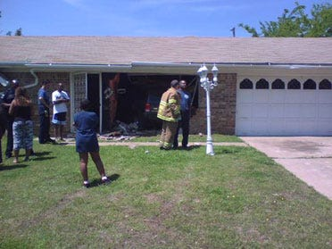 Vehicle Drives Into House