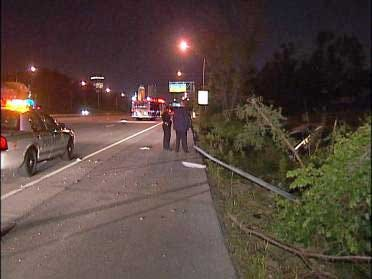 Police Officer Survives Overnight Accident