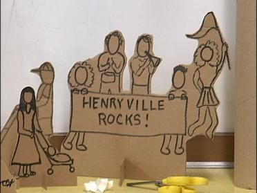 Students Build The City Of Henryville