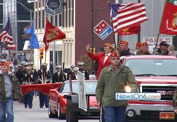 Veterans Day Parade In Downtown Tulsa