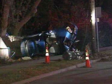 Accident Breaks Utility Pole