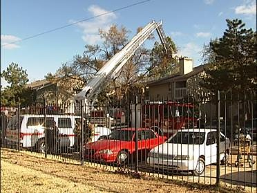 Apartment Complex Damaged By Fire