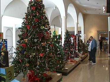 Students Show Ornaments At Tulsa's Festival Of Trees