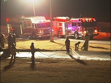 Gasoline Tanker Truck Tips On Tulsa Highway