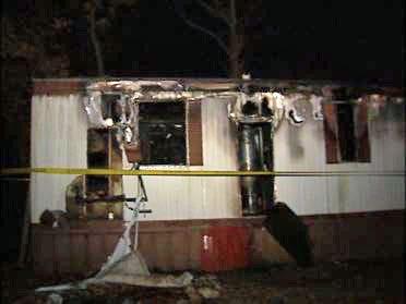 Man Flees Burning Home