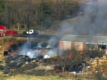 Pallet Business Goes Up In Flames