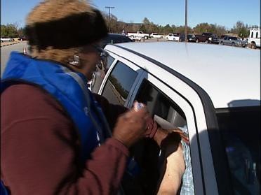 Flu Shots Given At Drive-Thru Clinic