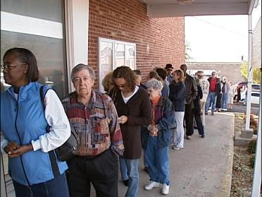 Waiting In Line To Vote Early