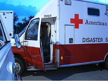 Red Cross Shelters Set Up For Fire Victims