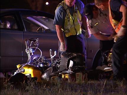 Driver Arrested After Motorcycle Crash