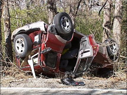 Man Critically Injured In Tulsa Rollover