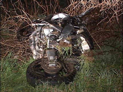 Man Found Unconscious After Motorcycle Crash