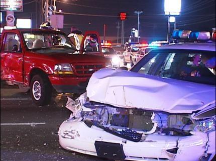Tulsa Police Officer Involved In Crash