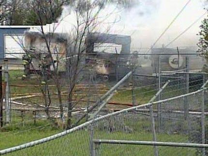 RV's Destroyed In Glenpool Fire