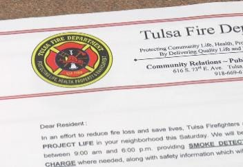 Tulsa Fire Department Canvassing Neighborhoods for Smoke Alarm Safety