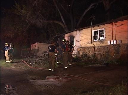 Suspect Sought In Tulsa House Fire