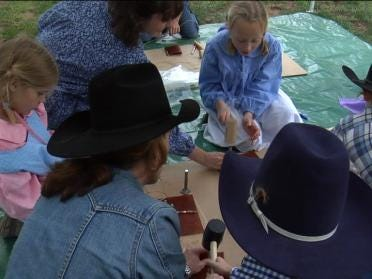 Local Students Experience Pioneer Day