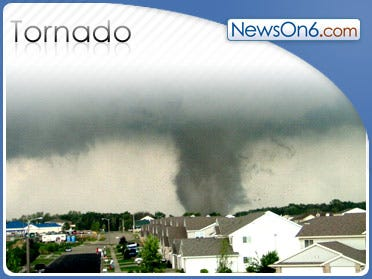 Tornado Damages School, Homes In Texas