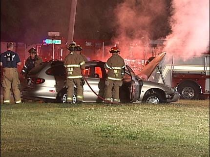 Tulsa Accident Results In Hospital Visit