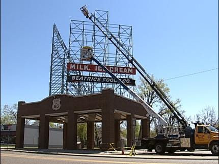 Meadow Gold Sign Returns To Tulsa's Route 66