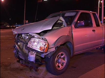 Tulsa Officer's Car Hit While Responding To Call