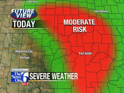 Tornado Watch Issued For Eastern Oklahoma