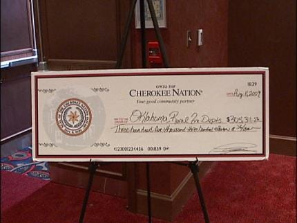 Cherokee Nation Gives To Volunteer Fire Departments