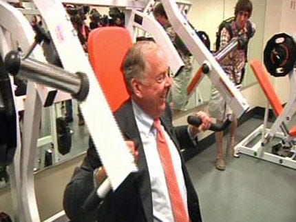 T. Boone Pickens Gets Tour Of OSU's Football Stadium