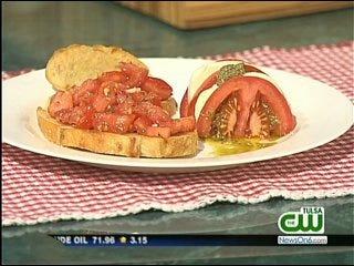 Bruschetta with Tomato and Basil/Mozzarella and Tomato Napoleons