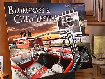 Claremore Bluegrass And Chili Festival Poster Unveiled