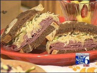 Tasty Reuben Sandwich With Russian Dressing