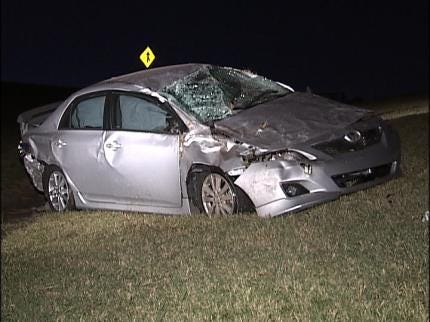Driver Disappears Following Overnight Tulsa Traffic Accident